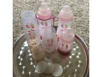 MAM Anti Colic Bottle Set in Pink