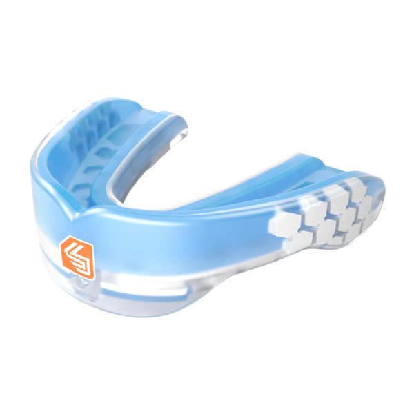 Shock Doctor Mouth Guard v2 Gel Max Mouthguard Protection Gum Shield Blue Black