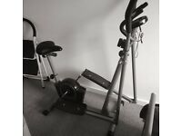 Pro Fitness 2in1 Cross Trainer and Exercise Bike £40 ONO