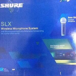 SLX wireless microphone systeme sans-fil