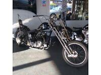 Custom Triumph HardTail Chopper Not Harley Davidson Chop Bobber