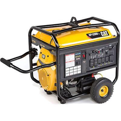 Cat Rp12000 E - 12000 Watt Electric Start Portable Generator Carb