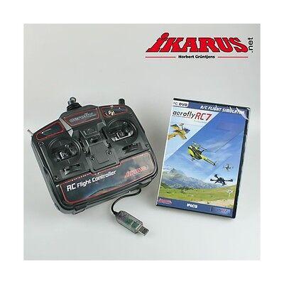 Gebraucht, ikarus Flugsimulator AeroFlyRC7 - Aero Fly RC 7 Profess. - DVD mit USB-Commander gebraucht kaufen  Wörthsee
