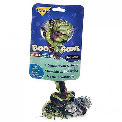 Booda Bone Two Knot Multi-color Large Rope Tug for Dogs - Free Shipping (Bone Multi Color Rope)