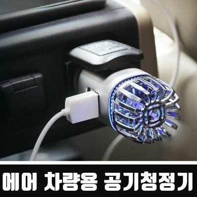 Car Air Cleaner Purifier Smoke Remover Ionizer Ionic Freshener Filter Bad Odors