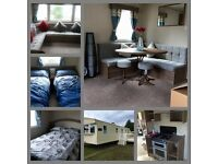 Deluxe 3 bedroom caravan to hire Haggerston Castle