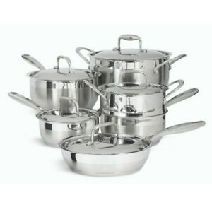"""PADERNO """"CLASSIC"""" 11 PC. STAINLESS STEEL COOKWARE SET"""