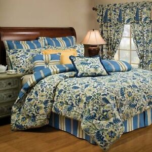 Brand New Waverly 4 Piece Comforter Set Queen & Valance