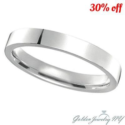 Comfort Fit .925 Sterling Silver FLAT Plain Wedding Band Ring 3MM-7MM  FREE BOX.