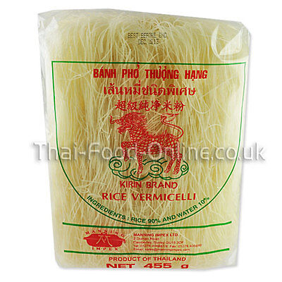 Authentic Thai Rice Vermicelli Noodles (455g) by Kirin (R438) *** UK Seller ***