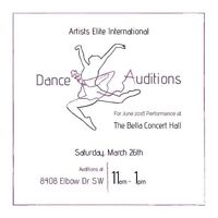 Free Dance Class/Auditions