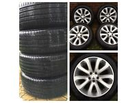 """20"""" wheels genuine Range Rover Vogue Sport Pirelli tyres 8mm tread"""