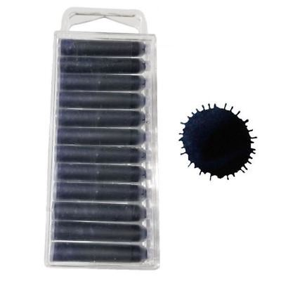 5280 Midnight Blue/Black Fountain Pen Ink Cartridges - 12
