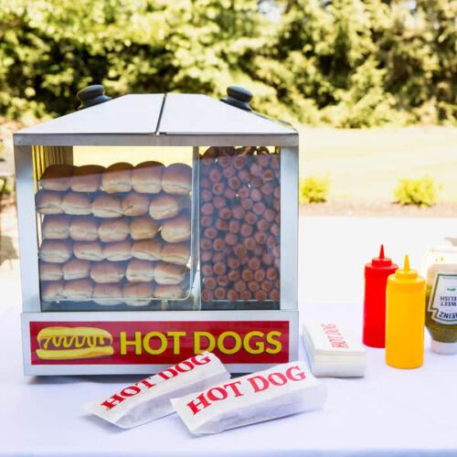 Avantco HDS - 200  200 Dog/48 Bun Hot Dog Steamer 120V, 1300W