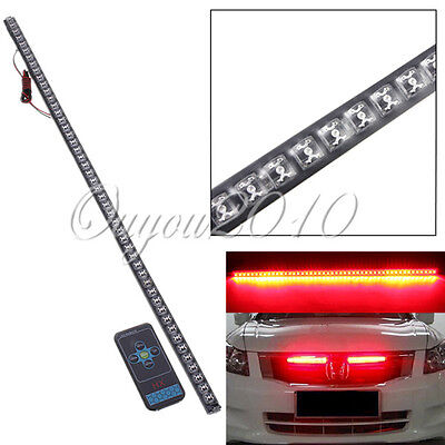 Red Strip Glow Waterproof Car 54CM 48 LED Flash Strobe Knight Rider Light Set UK
