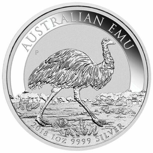 2018 Australia 1 oz Perth .9999 Silver Emu (30,000 mintage, from mint roll)