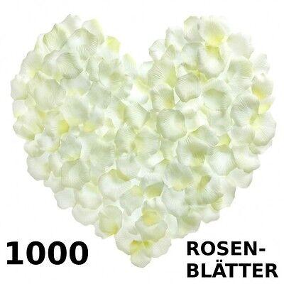 1000 Rosenblätter Rosenblüten Rosen Blütenblätter Liebe Hochzeit Deko weiss