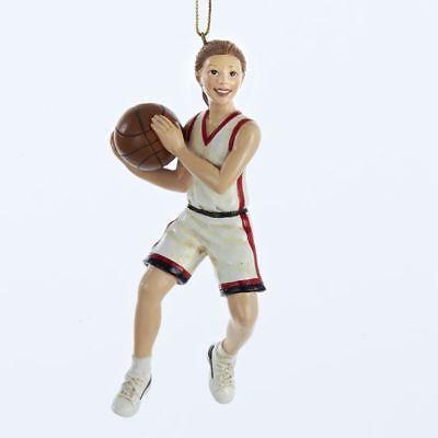 New Kurt Adler Basketball Girl Ornament