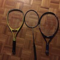 4 Raquettes Tennis Wilson Le Tout Pour 10$