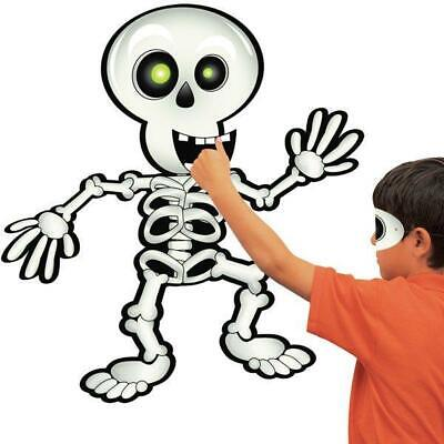 Halloween Childrens Party Activity Pin The Smile On The Skeleton Game For Kids - Halloween Party Games For Kids