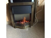 Dimplex electric fire in gold as new bargain only 75 pound