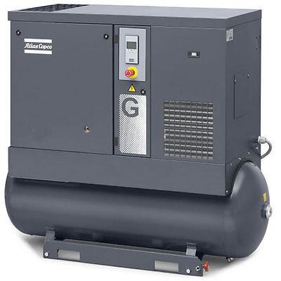 Atlas Copco G11 15-HP 120-Gallon FF Rotary Screw Air Compressor w/ Dryer (208...