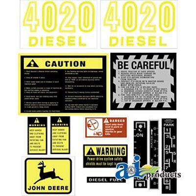 John Deere 4020 Tractor Decal Set
