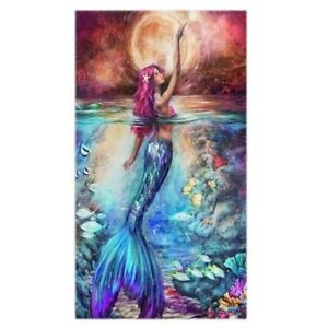 5D Diamond Embroidery Painting Mermaid Cross Stitch DIY Craft Home Office D A6O8
