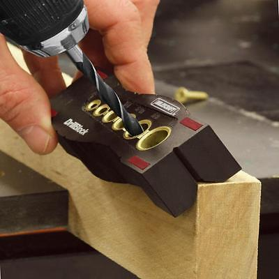 Drill Straight / Angle Guide for Bit 1/8, 3/16, 1/4, 5/16, 3/8, 1/2 doweling jig