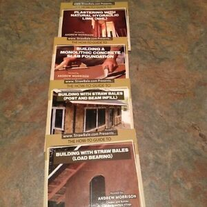 Straw bale house construction DVDs