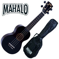 Mahalo Black Ukulele Rainbow Series NEW WITH GIG BAG