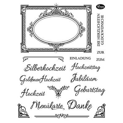 """Viva Decor Silikonstempel clear stamps """"Anlässe festlich"""" Motivstempel 4003124"""