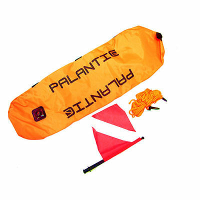 Nylon Dive Flag (Palantic Scuba Diving Spearfishing Nylon Torpedo Float with Dive)