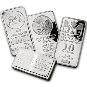 10 oz Assorted Silver Bars (No Choice)