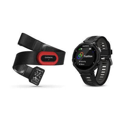 Garmin Forerunner 735XT GPS Running Watch Black / Grey HRM-Run Bundle