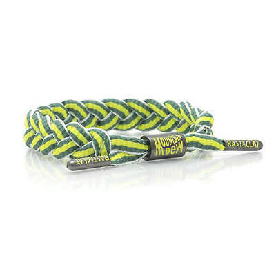 Brand New RASTACLAT Mountain Dew Stripe Braided Shoelace Bracelet