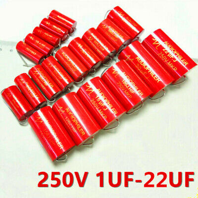 Audiophiler Mkp 250v 11.52.244.75.68.2101547uf Audio Mkp Capacitor Red