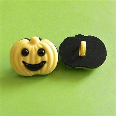 15 Pumpkin Fruit Kid Child DIY Decor Bags Halloween Sew On Buttons Yellow - Pumpkin Halloween Costume Diy