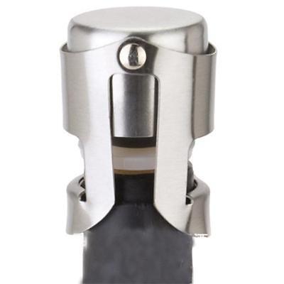 2 X New Sparkling Stainless Steel Champagne Bottle Stopper Sealer Wine Plug Gift