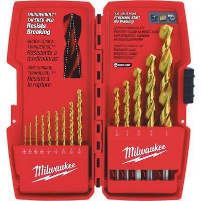 6 Pk Milwaukee Thunderbolt Best High-Performance 14-Piece Titanium Drill Bit