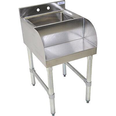 Stainless Steel Blender Station - Sink And Shelf- Ice Cream Commercial Equipment