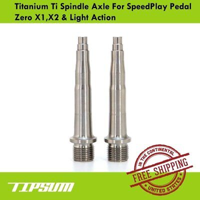 Tipsum Titanium Ti Plate /& Ti Bolts Fit SpeedPlay Pedal Light Action /& Zero
