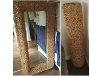 Large came lamp and mirror perfect condition