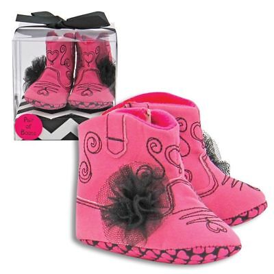 Baby Girl Pink Cowboy Cowgirl Boots Faux Suede - Gift Boxed - Infant - Western](Girl Cowgirl)