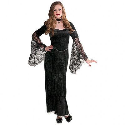 . 164 170 schwarze Lady Vampir Mädchen Kinder Fasching 158 (Vampir-mädchen Kostüme Kinder)