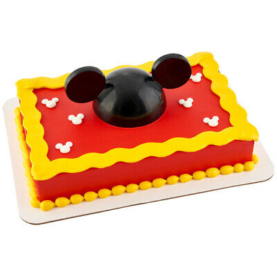 Mickey Mouse Cake Decorations (1 Disney Mickey Mouse Hat Decoset Birthday Cake Topper Party Decor)