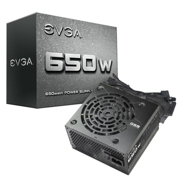 EVGA 650 N1 Power Supply 650W - Black 100-N1-0650-L1 Retail
