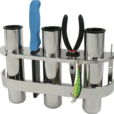 3 Tube Stainless Steel Fishing Outrigger Rod Holder Tackle Rod  Rack Holder (3 Rod Fishing Tackle Rack)