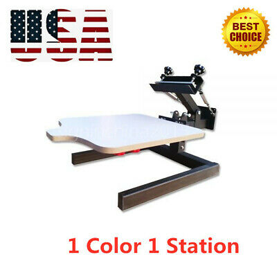 1 Color 1 Station Silk Screen Printing Machine T-shirt Press Printer