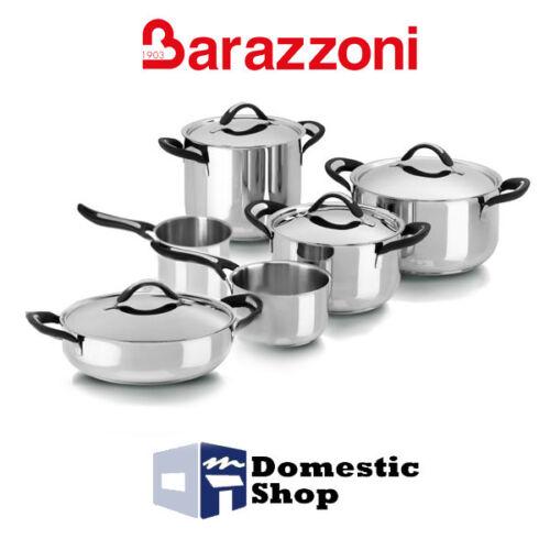 BATTERIA DI PENTOLE BARAZZONI LINEA SILICON PRO ACCIAO INOIX 18/10 ...